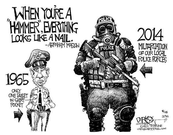 militarization of police Trump used an fbi graduation ceremony to call for greater police militarization we are allowing our local police to access surplus military equipment, something the previous administration for.