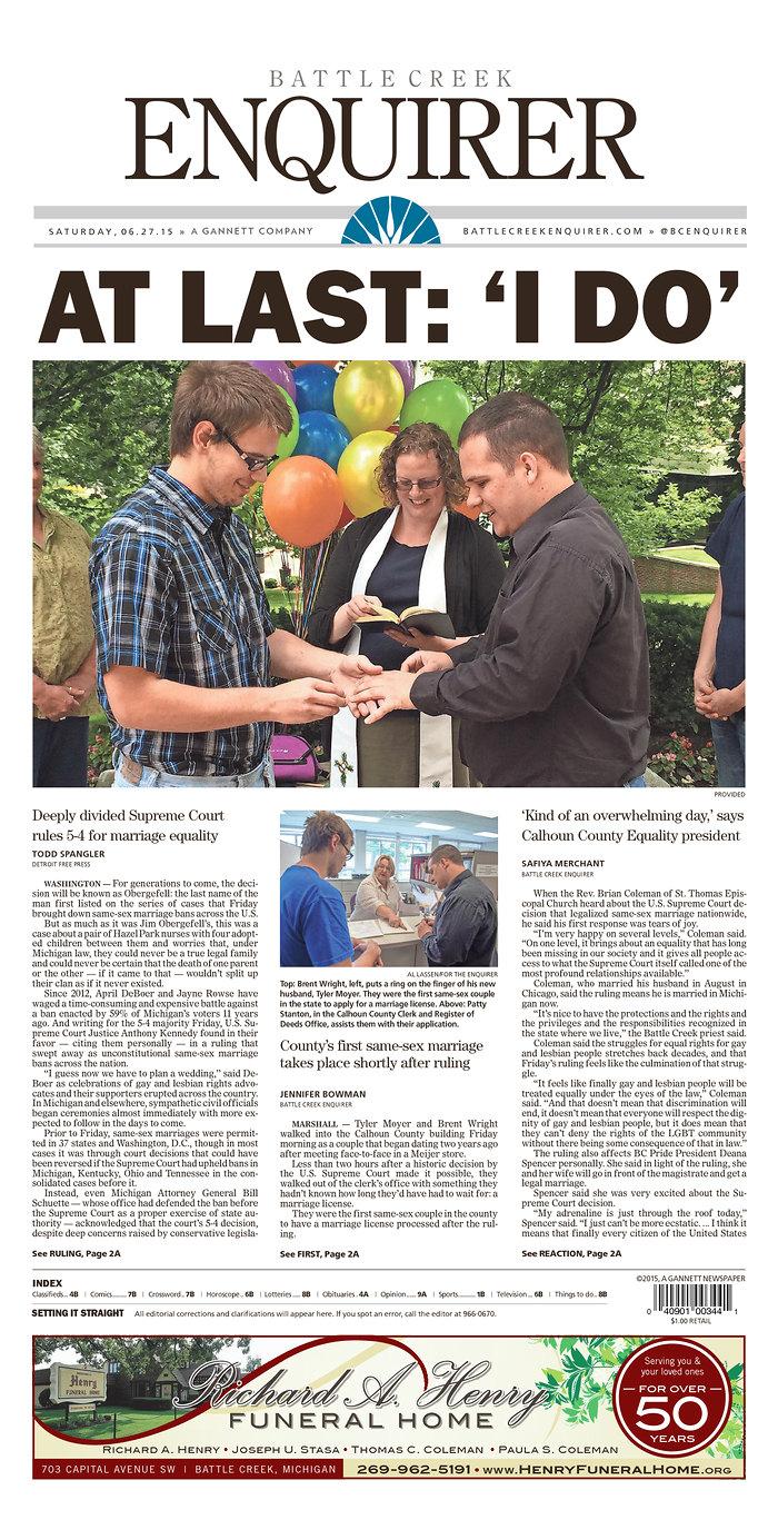 headline news gay marriage