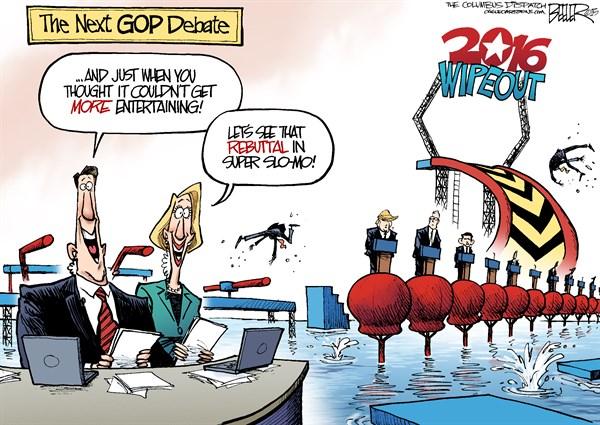 Donald Trump Debate Political Cartoons | CAFFEINATED POLITICS