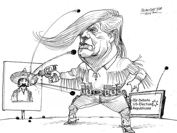karikatur für tribüne-gummimunition