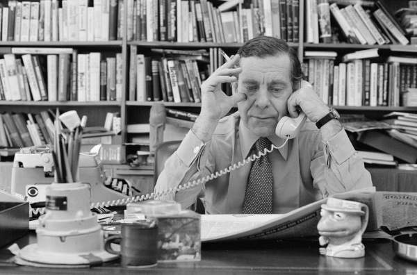60 MINUTES  63630, fr's 1, 3, 8 (Morley Safer in office, April 21, 1980).   Copyright CBS Broadcasting, Inc., All Rights Reserved, Credit: CBS Photo Archive
