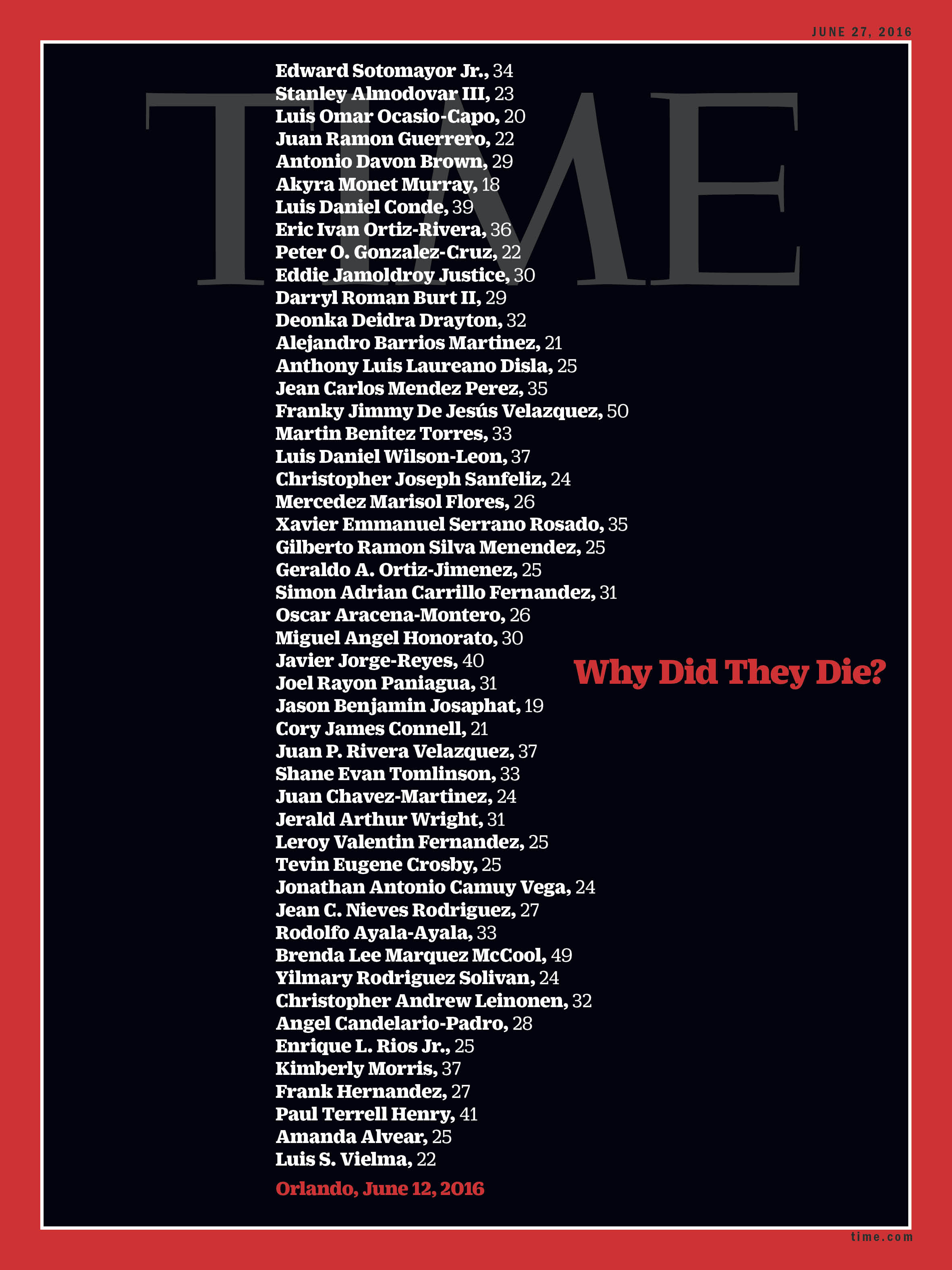 Profound Cover Of Time Magazine On Orlando Slaughter ...