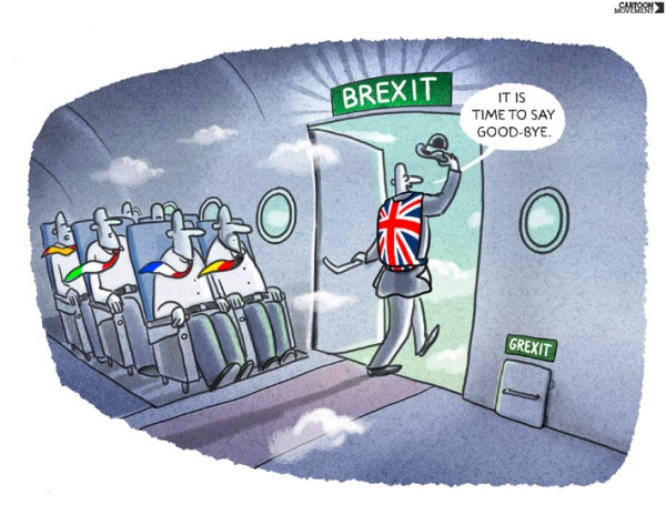 Europe, 20 June 2016 Brexit. Markus Grolik/Cartoon Movement/Hollandse Hoogte