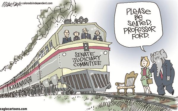 Walter Cronkite >> Brett Kavanaugh Political Cartoons   CAFFEINATED POLITICS