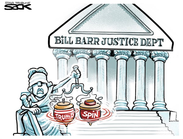Image result for cartoons showing corruption by barr