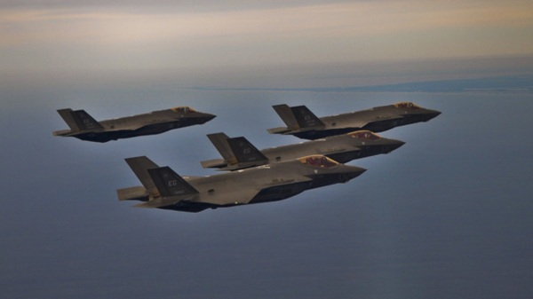 F-35 return to Elgin AFB arfter sortie